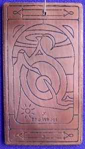 The Wheel copper talisman