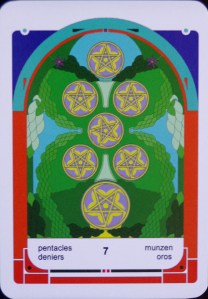 "quiet watchfulness, pause, higher sight within an above, ""depth of above"" (c) The Tarot School"